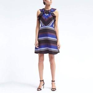 Banana Republic 100% Silk Striped Dress Size 12